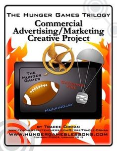 FREE Hunger Games Project Commercial Activity - great for using before or after the Super Bowl (connecting activity with video links for a propaganda lesson). Teaching Reading, Teaching Kids, Fun Classroom Activities, Classroom Ideas, 8th Grade Ela, Sixth Grade, Hunger Games Trilogy, Catching Fire, Lesson Plans