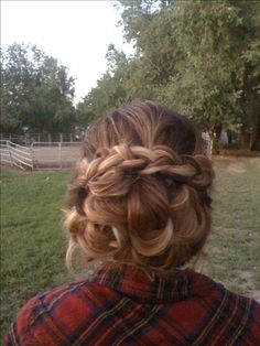 Soft braided updo #updo, #braid