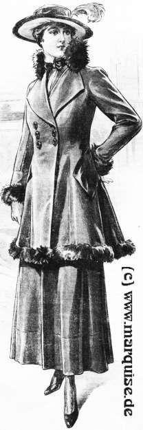 Velvet Suit with Lynx Fur