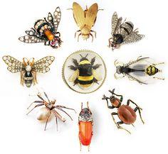 bee & bug jewelry @rubylanecom #VintageJewelry #rubylane