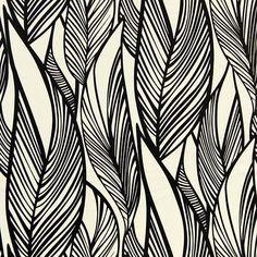 black and white leaves pattern Textile Prints, Leaf Prints, Textile Patterns, Graphic Patterns, Cool Patterns, Print Patterns, Leaf Patterns, Surface Pattern Design, Pattern Art