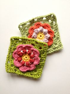 Granny square in bloom
