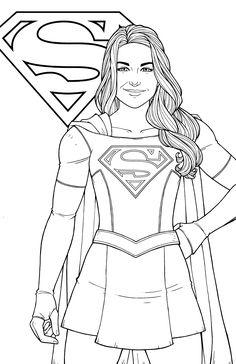 supergirl melissa benoist by jamiefayx - Supergirl Coloring Pages Kids