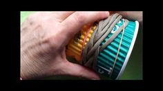 2 coloured Gaucho knot coffee cup cozy (paracord) - Pt.1