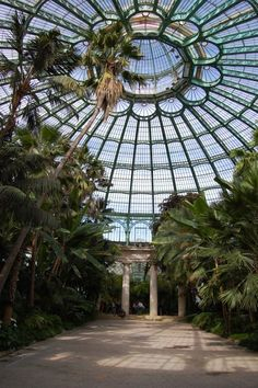 Royal serres of Laeken gardens in Brussels.