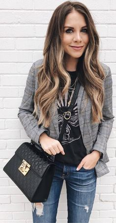 How to wear that plaid blazer I bought