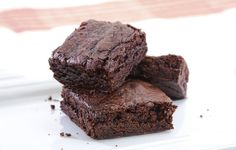 Easy Homemade Chocolate Fudge Brownies. Figure out applesauce sub for fat and use less sugar