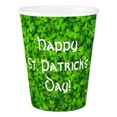 Shamrocks Clover Leaves St. Patrick's Day Party Paper Cup