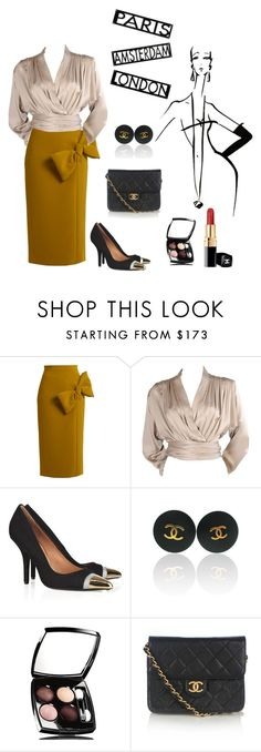 """untitled"" by j-yoshiko ❤ liked on Polyvore featuring Lagerfeld, Roksanda, Yves Saint Laurent, Givenchy and Chanel"