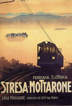 The former Stresa - Mottarone cog railway, Italy - hanging in our house.