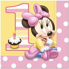Minnie Mouse 1st Birthday Lunch Napkins (16), FREE shipping offer, 50% ...