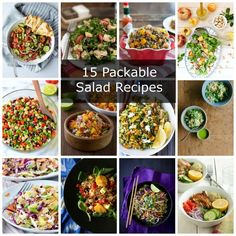 15 Packable Salad Recipes - Tips for Packing More Salads In Your Lunch| www.nutritiouseats.com