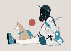 Stylish Anime Girl by Kawaii Co Character Inspiration, Character Art, Character Design, Anime Art Girl, Manga Art, Pretty Art, Cute Art, Aesthetic Art, Aesthetic Anime