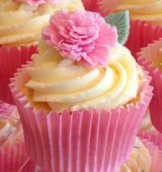 30 x edible icing pink Carnation flower & leaf Cupcake toppers cake decorations on EBay £48.50 (collection only).