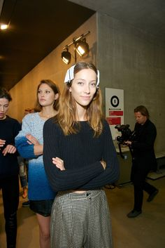 Backstage at Paul Smith RTW Spring 2014 [Photo by James Mason]