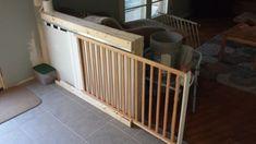 Ideas Pocket Door Remodel Baby Gates For 2019 Diy Dog Gate, Diy Baby Gate, Baby Gates, Pet Gate, Dog Gates, Barn Door Baby Gate, Pocket Door Hardware, Pocket Doors, Stair Gate
