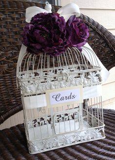 Custom Large Wedding Bird Cage Card Holder  by MackensleyDesigns,