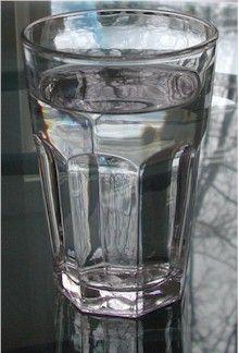 beautiful glass of water