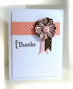 flower shop stamp. Stampin' Up.  Pretty way to use the flower shop stamp and punch