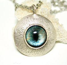 Steampunk Necklace Eye Necklace Mens Steampunk by DesignsBloom, $32.50