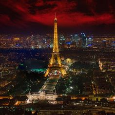 Eiffel Tower, Sunset, Marco Carmassi / 500px