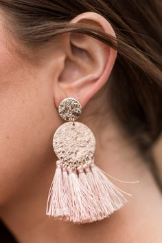 """Suggested Fab Earrings, Pink"""