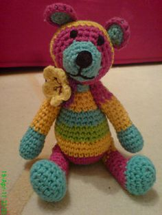 Free+Patterns+For+Amigurumi+Animals | 1500 Free Amigurumi Patterns: Small Teddybear