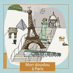 Joli-Cadeau: Joli-Cadeau - idée cadeau naissance : Livre Mon doudou à Paris