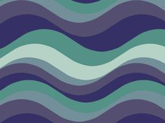 """""""Surfing 60s"""" by webspinner blue, green, purple, waves"""