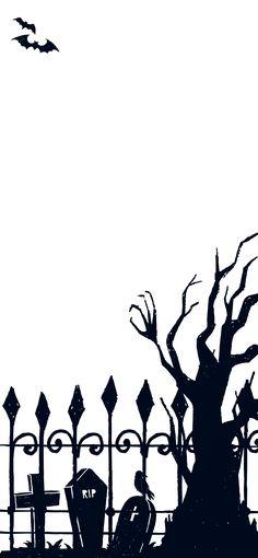 Halloween Graveyard iPhone Wallpaper 2019