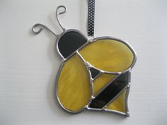 Bumble Bee stained glass sun catcher Perfect for by HEvansDesigns, $35.00
