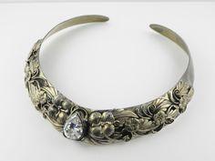 Carol Felley Design Sunrise 925 Sterling Silver Collar Chocker Floral Necklace #CarolFelley #Collar