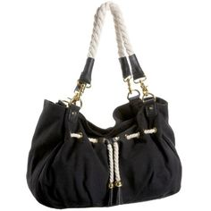 Big Buddha Sailor Drawstring Shoulder Bag – Black