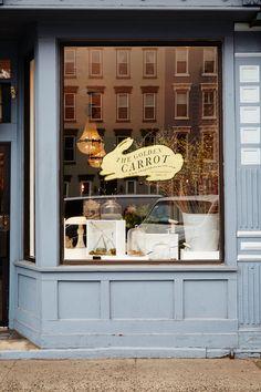The Golden Carrot in Hoboken - Facade Boutiques, Shop Facade, Interior And Exterior, Interior Design, Cafe Shop, Shop Fronts, Layout, Retail Space, Store Displays