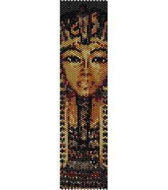 Schema peyote Tutankhamon faraone egizio PDF per bracciale