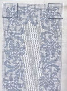 Kira scheme crochet: Scheme crochet no. Filet Crochet Charts, Crochet Motifs, Crochet Cross, Irish Crochet, Crochet Doilies, Crochet Lace, Crochet Patterns, Crochet Table Runner, Crochet Tablecloth