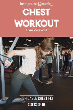 Chest workout for women! Demo for cable fly, narrow plate press, plate press, incline dumbbell press; Follow @audfit_ on IG for more great workout routines. workout video | fitness | #fitness | workout plan for women | upper body workout | chestworkout #chestworkout #workoutvideo #womenworkout #womenworkoutplan #health #gymworkout #gym #workoutplan #workouthairstyles #fitnessmotivation