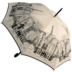 Parisienne Poodles Umbrella by Guy de Jean.  I'm not a fan of poodles, but the architectural design on this is so cool.