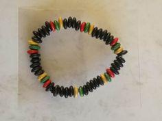 Rasta Beads -  Elastic Stretch Dimensions - 80mm width x 10mm Weight - 5g