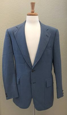 John Peel LTD. Navy Blue Sport Coat - 44S Men's Blazer kIspdHM