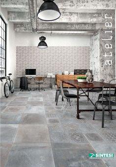 Italian Tiles, Inside Home, Metal Buildings, Tile Design, Tile Floor, New Homes, Dining Table, House Design, Flooring