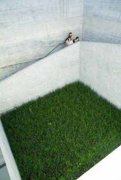 Ando Tadao's Chichu green courtyard