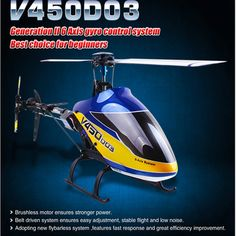 Walkera V450D03 Generation II 6 axis Gyro Flybarless Helicopter With Devo 7 RTF