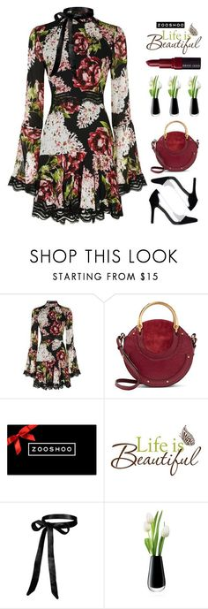 """ZOOSHOO I"" by amethyst0818 on Polyvore featuring Nicholas, Chloé, Wall Pops!, LSA International, Bobbi Brown Cosmetics, dressy, beautiful, dress and zooshoo"