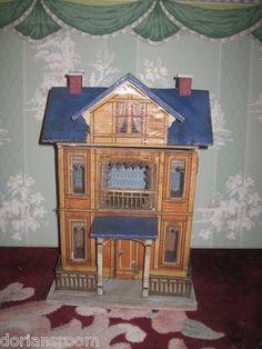Magnificent RARE All Original Antique German Gottshalk Dollhouse | eBay