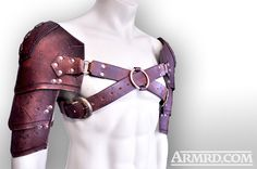 Barbarian leather shoulder armour harness.