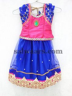 Parsi Work Kids Net Lehenga | Indian Dresses
