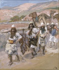 canaan god EL   The twelve spies return from Canaan carrying a large cluster of grapes ...