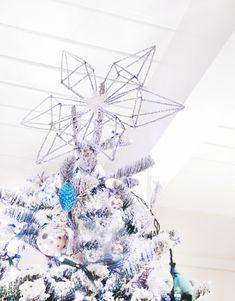 DIY pipe cleaner tree topper-snowflake
