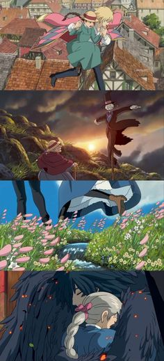 Howl's moving castle. I adore this movie